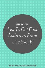 how to get email addresses from live events